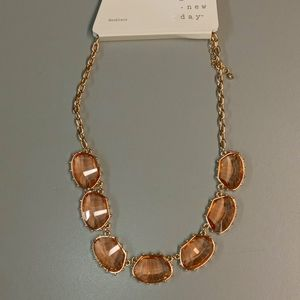 NWT  A NEW DAY  Gematone Statement Necklace
